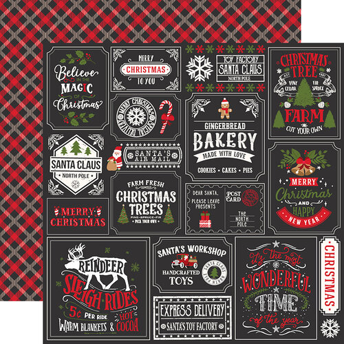 Echo Park - My Favorite Christmas Collection - 12 x 12 Double Sided Paper - Christmas Squares