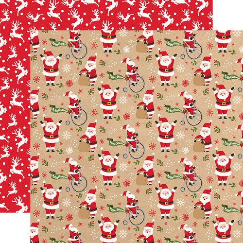 Echo Park - My Favorite Christmas Collection - 12 x 12 Double Sided Paper - Jolly Santa