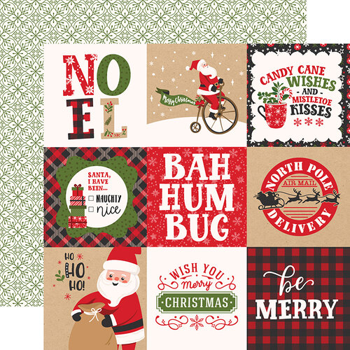Echo Park - My Favorite Christmas Collection - 12 x 12 Double Sided Paper - 4 x 4 Journaling Cards
