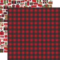 Echo Park - My Favorite Christmas Collection - 12 x 12 Double Sided Paper - Winter Flannel