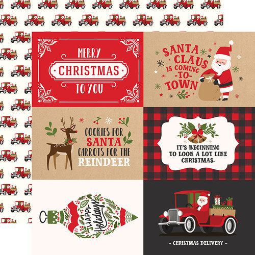 Echo Park - My Favorite Christmas Collection - 12 x 12 Double Sided Paper - 4 x 6 Journaling Cards