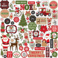 Echo Park - My Favorite Christmas Collection - 12 x 12 Cardstock Stickers - Elements