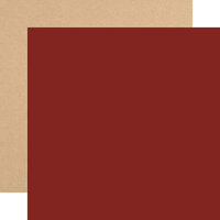 Echo Park - My Favorite Christmas Collection - 12 x 12 Double Sided Paper - Dark Red
