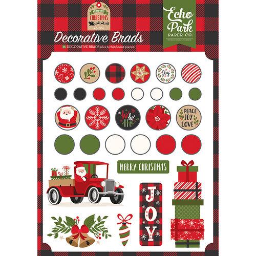 Echo Park - My Favorite Christmas Collection - Decorative Brads