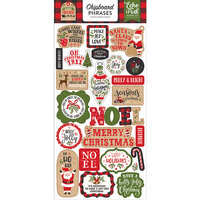 Echo Park - My Favorite Christmas Collection - Chipboard Stickers - Phrases