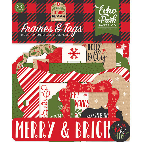 Echo Park - My Favorite Christmas Collection - Frames and Tags Ephemera
