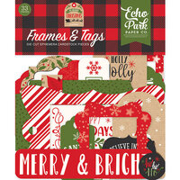 Echo Park - My Favorite Christmas Collection - Ephemera - Frames and Tags