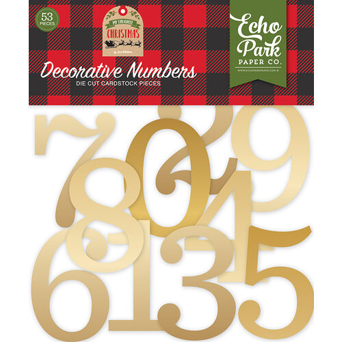 Echo Park - My Favorite Christmas Collection - Gold Foil Decorative Numbers