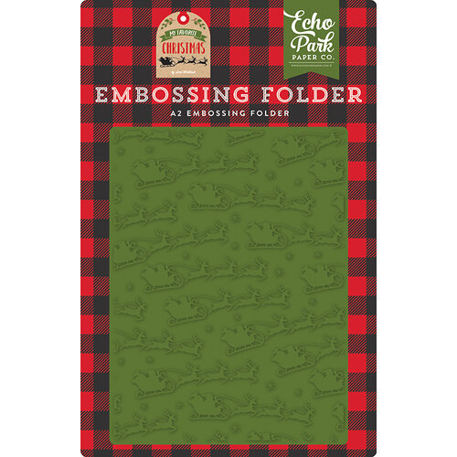 Echo Park - My Favorite Christmas Collection - Embossing Folder - To All A Good Night