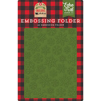 Echo Park - My Favorite Christmas Collection - Embossing Folder - Christmas Snowfall
