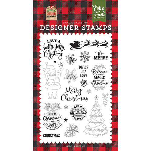 Echo Park - My Favorite Christmas Collection - Clear Photopolymer Stamps - Be Merry