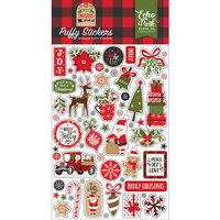 Echo Park - My Favorite Christmas Collection - Puffy Stickers