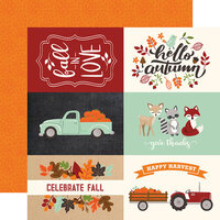 Echo Park - My Favorite Fall Collection - 12 x 12 Double Sided Paper - 4 x 6 Journaling Cards