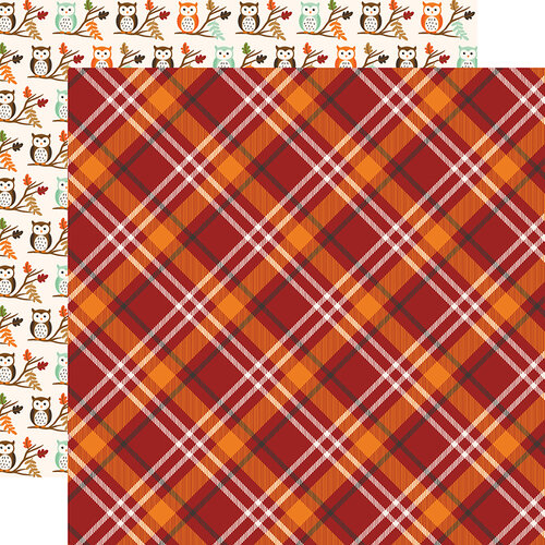 Echo Park - My Favorite Fall Collection - 12 x 12 Double Sided Paper - Fall Plaid