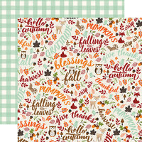 Echo Park - My Favorite Fall Collection - 12 x 12 Double Sided Paper - Hello Autumn
