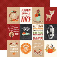 Echo Park - My Favorite Fall Collection - 12 x 12 Double Sided Paper - 3 x 4 Journaling Cards