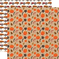 Echo Park - My Favorite Fall Collection - 12 x 12 Double Sided Paper - Pumpkin Patch