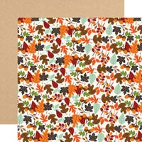 Echo Park - My Favorite Fall Collection - 12 x 12 Double Sided Paper - Falling Leaves