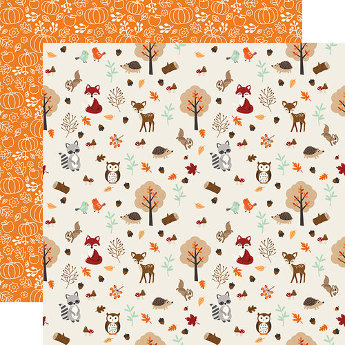 Echo Park - My Favorite Fall Collection - 12 x 12 Double Sided Paper - Fall Friends