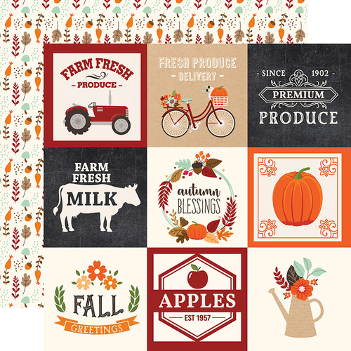Echo Park - My Favorite Fall Collection - 12 x 12 Double Sided Paper - 4 x 4 Journaling Cards