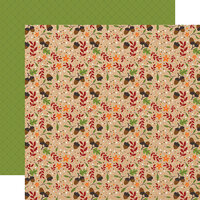 Echo Park - My Favorite Fall Collection - 12 x 12 Double Sided Paper - Autumn Acorns