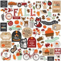 Echo Park - My Favorite Fall Collection - 12 x 12 Cardstock Stickers - Elements