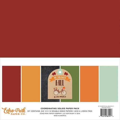 Echo Park - My Favorite Fall Collection - 12 x 12 Paper Pack - Solids