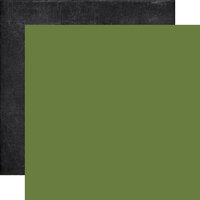 Echo Park - My Favorite Fall Collection - 12 x 12 Double Sided Paper - Green