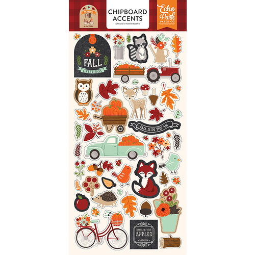 Echo Park - My Favorite Fall Collection - Chipboard Stickers - Accents
