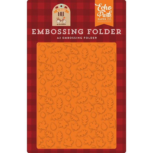 Echo Park - My Favorite Fall Collection - Embossing Folder - Fall Is In The Air