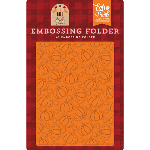 Echo Park - My Favorite Fall Collection - Embossing Folder - Pumpkin Patch