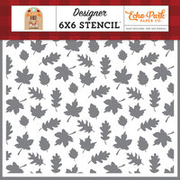 Echo Park - My Favorite Fall Collection - 6 x 6 Stencil - Fall Breeze Leaves