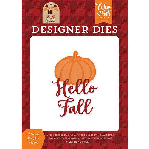 Echo Park - My Favorite Fall Collection - Designer Dies - Hello Fall Pumpkin