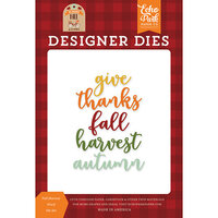Echo Park - My Favorite Fall Collection - Designer Dies - Fall Harvest Words