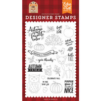 Echo Park - My Favorite Fall Collection - Clear Photopolymer Stamps - Celebrate Fall