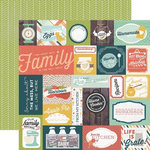 Echo Park - Made From Scratch Collection - 12 x 12 Double Sided Paper - Family Time