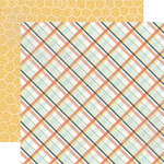 Echo Park - Made From Scratch Collection - 12 x 12 Double Sided Paper - Country Plaid