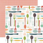 Echo Park - Made From Scratch Collection - 12 x 12 Double Sided Paper - Silverware