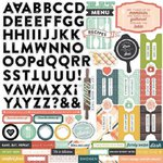 Echo Park - Made From Scratch Collection - 12 x 12 Cardstock Stickers - Alphabet
