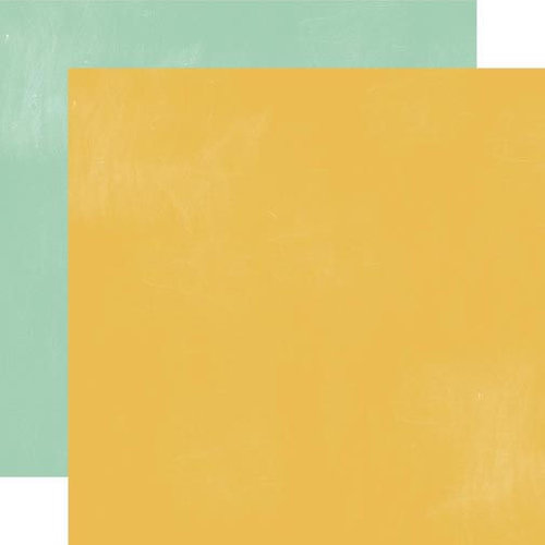 Echo Park - Made From Scratch Collection - 12 x 12 Double Sided Paper - Yellow