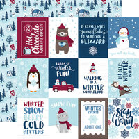 Echo Park - Christmas - My Favorite Winter Collection - 12 x 12 Double Sided Paper - 3 x 4 Journaling Cards