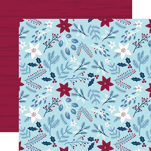 Echo Park - Christmas - My Favorite Winter Collection - 12 x 12 Double Sided Paper - Winter Floral