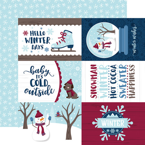 Echo Park - Christmas - My Favorite Winter Collection - 12 x 12 Double Sided Paper - 4 x 6 Journaling Cards