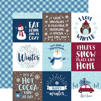 Echo Park - Christmas - My Favorite Winter Collection - 12 x 12 Double Sided Paper - 4 x 4 Journaling Cards