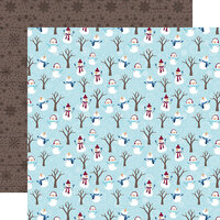 Echo Park - Christmas - My Favorite Winter Collection - 12 x 12 Double Sided Paper - Snowman Fun
