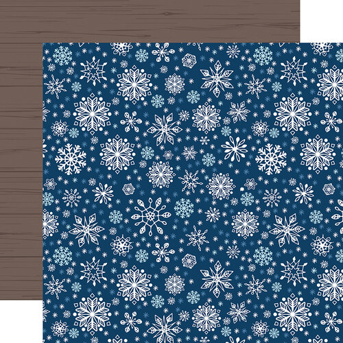 Echo Park - Christmas - My Favorite Winter Collection - 12 x 12 Double Sided Paper - Sparkling Snowflakes