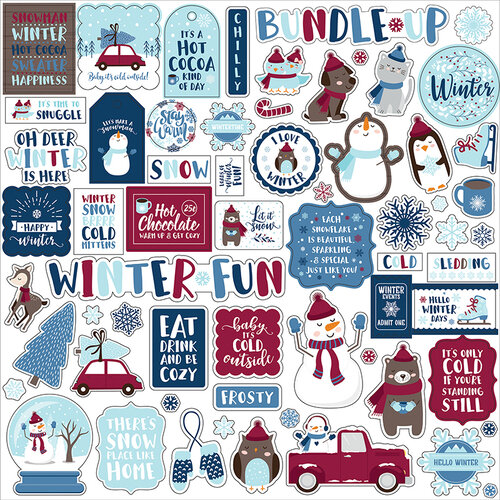 Echo Park - My Favorite Winter Collection - Christmas - 12 x 12 Cardstock Stickers - Elements