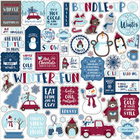 Echo Park - Christmas - My Favorite Winter Collection - 12 x 12 Cardstock Stickers - Elements