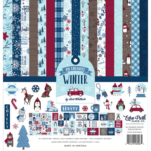 Echo Park - Christmas - My Favorite Winter Collection - 12 x 12 Collection Kit