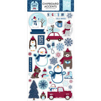 Echo Park - Christmas - My Favorite Winter Collection - Chipboard Stickers - Accents